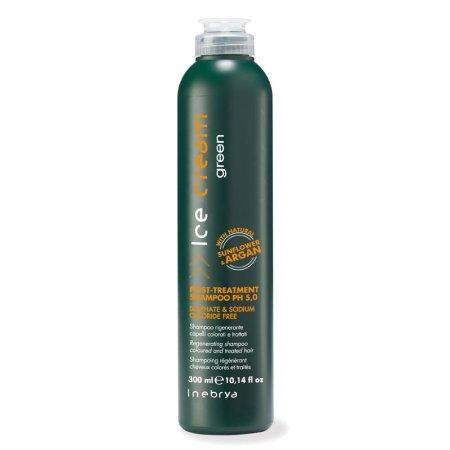 Inebrya Green Post Treatment, eko-szampon, włosy osłabione i zniszczone, 300ml