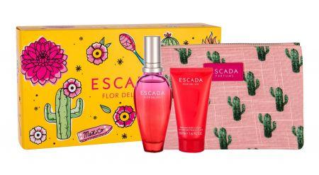 ESCADA Flor del Sol, zestaw: Edt 50 ml + Mleczko do ciała 50 ml + Kosmetyczka (W)