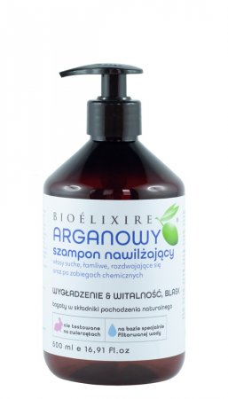 Bioelixire, arganowy szampon nawilżający, 500ml