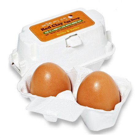 Holika Holika Red Clay Egg Soap, mydełko do twarzy, 2x50g