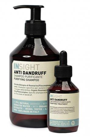 InSight Anti Dandruff, zestaw kosmetyków przeciwłupieżowych, 400ml + 100ml
