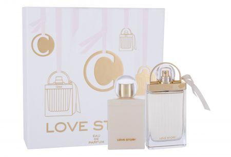 Chloé Love Story, zestaw: EDP 75 ml + Mleczko do ciała 100 ml (W)