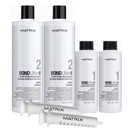 Matrix Bond Ultim8, Salon Intro Kit, zestaw do rozjaśniania, 2x125ml+2x500ml