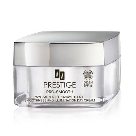 AA Prestige Pro Smooth, wygładzająco-rozświetlający krem na dzień, SPF 15, 50ml