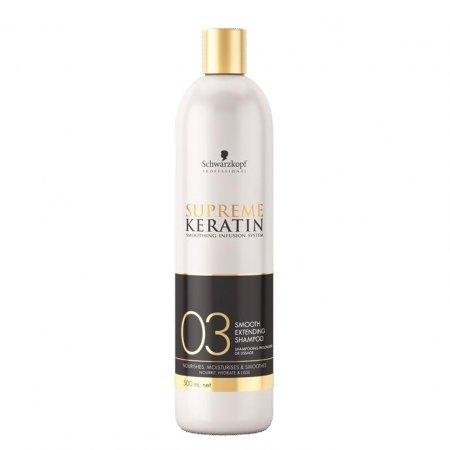 Schwarzkopf Supreme Keratin #03, szampon po zabiegu prostowania włosów, 500ml