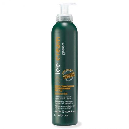 Inebrya Green Post Treatment, eko-odżywka do włosów osłabionych i zniszczonych zabiegami, 300ml