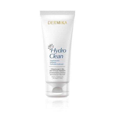 Dermika Hydro Clean, tonizujący żel do mycia twarzy z kwiatem lotosu, 150ml