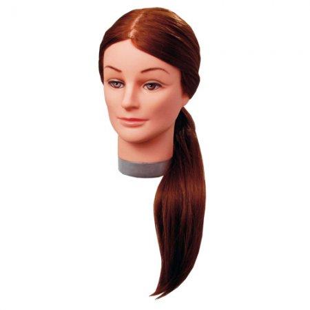 Efalock główka treningowa Laura, 55-60cm, 50% włosy naturalne, 50% włosy syntetyczne