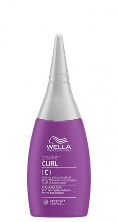 Wella Creatine+ Curl C, trwała do włosów farbowanych i uwrażliwionych, 75ml