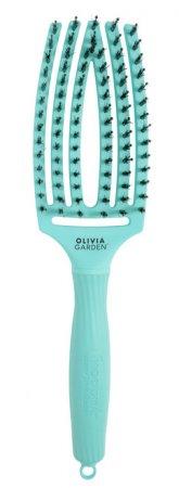 Olivia Garden Fingerbrush Tropical, szczotka z włosiem z dzika, średnia, mint