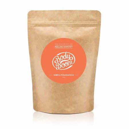 BodyBoom, peeling kawowy Imbir i Pomarańcza, 30g
