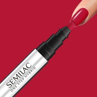 Semilac One Step Hybrid, lakier hybrydowy w markerze, 3ml, S550 Pure Red