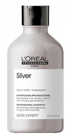 Loreal Silver, szampon do włosów rozjaśnionych lub siwych, 300ml