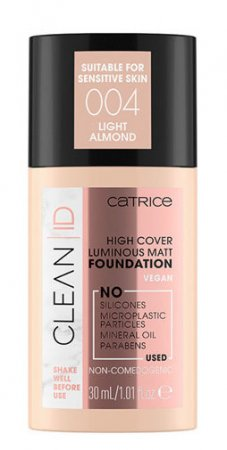 Catrice Clean ID, podkład matujący i rozświetlający, Light Almond 004, 30ml