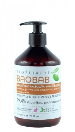 Bioelixire Vegan, odżywka nawilżająca z baobabem, 500ml