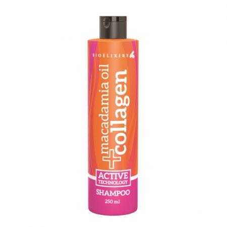 Bioelixire Macadamia Oil & Collagen, szampon do włosów, 250ml