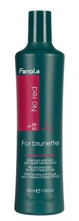 Fanola No Red, szampon dla brunetek redukujący czerwone odcienie, 350ml