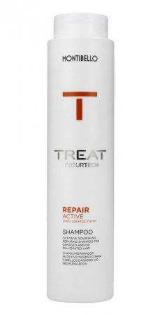 Montibello Treat Naturtech, szampon do włosów zniszczonych Repair Active, 300 ml