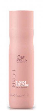 Wella Invigo Blonde Recharge, szampon ochładzający kolor, 250ml