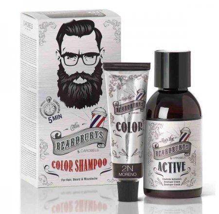Beardburys, szampon koloryzujący 2N, czarny