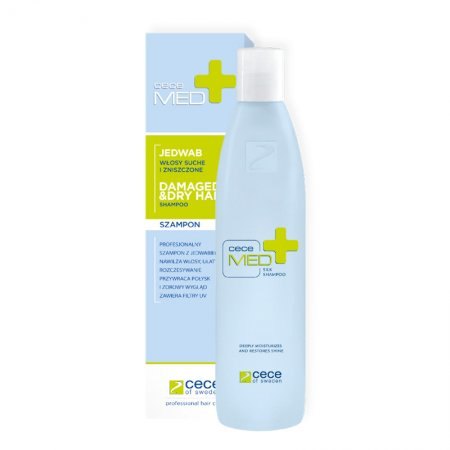 CeCe Med, szampon do włosów suchych z jedwabiem, 300ml