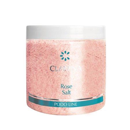 Clarena Podo Line, sól do kąpieli stóp i ciała, zapach różany, 250g