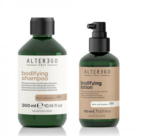 Alter Ego Bodifying, zestaw zagęszczający do włosów cienkich: szampon 300ml + lotion 150ml