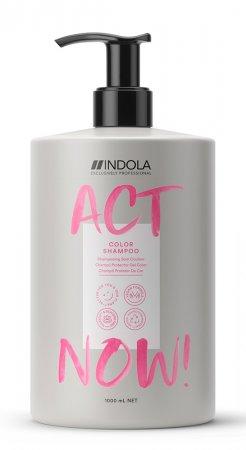Indola Act Now!, wegański szampon do włosów farbowanych, 1000ml