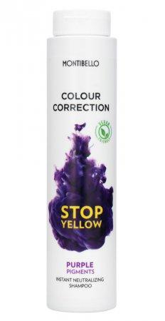 Montibello Colour Correction, szampon neutralizujący do włosów Stop Yellow, 300 ml
