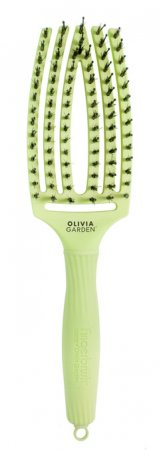 Olivia Garden Fingerbrush Tropical, szczotka z włosiem z dzika, średnia, lime