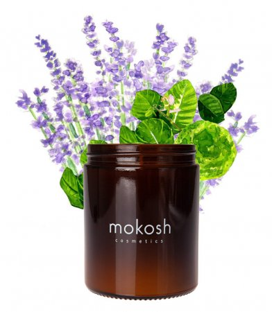 Roślinna świeca sojowa Mokosh, Sielska łąka, 140g - brak etykiety