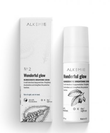 Alkemie Wonderful glow, neurokosmetyczne serum rozjaśniające, 30ml