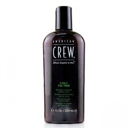 American Crew Tea Tree, 3w1 szampon + odżywka + żel do kąpieli, 250ml