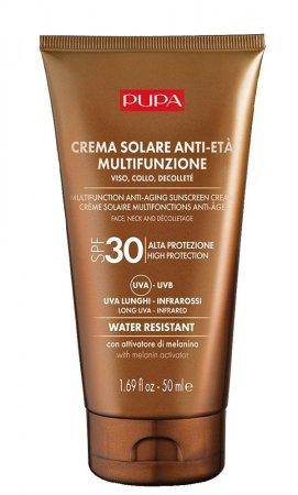 Pupa Multifunction Anti-Aging Sunscreen, krem przeciwsłoneczny SPF30, 50ml