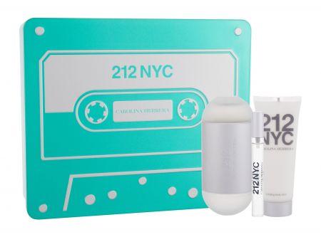 Carolina Herrera 212 NYC, zestaw: woda toaletowa 100ml + mleczko do ciała 50ml (W)