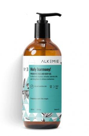 Alkemie Holy harmony, probiotyczny żel do mycia twarzy i ciała, 250ml