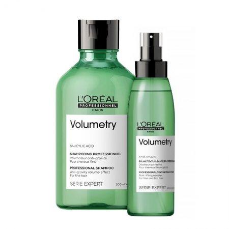 Loreal Volumetry, zestaw zwiększający objętość włosów, 300ml + 125ml