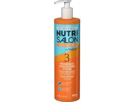 NutriSalon Argan Oil, odżywka do prostowania i redukcji puszenia się włosów, krok 3, 500ml