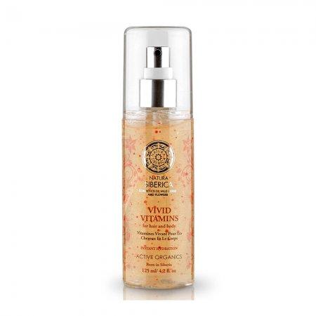 Natura Siberica Vivid Vitamins, spray do włosów i ciała, 125ml