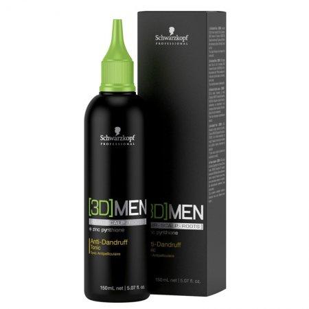 Schwarzkopf 3DMen, tonik przeciwłupieżowy dla mężczyzn, 150ml