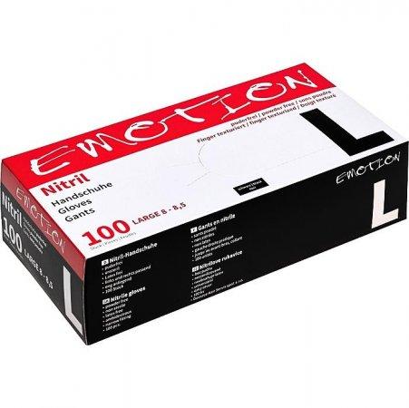 Efalock Emotion, nitrylowe rękawiczki bez pudru, rozmiar L, 100 szt.