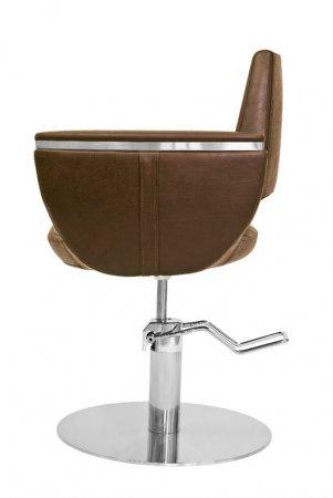 Fox Kansas, fotel fryzjerski, brązowy