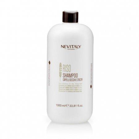 Nevitaly Riso, szampon do włosów suchych, puszących się, 1000ml