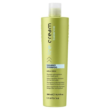 Inebrya Balance, szampon regulujący sebum, do włosów przetłuszczających się, 300 ml