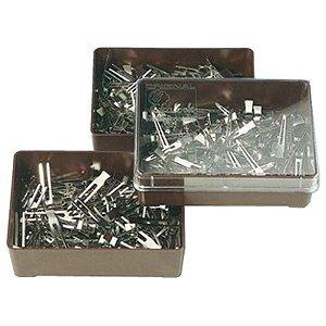 Efalock, klipsy w pudełku, metalowe, 100szt
