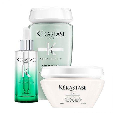 Kerastase Specifique, zestaw odświeżający, szampon + maska + serum, 250ml + 200ml + 90ml