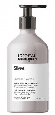 Loreal Silver, szampon do włosów rozjaśnionych lub siwych, 500ml