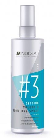 Indola Setting, spray do włosów przyspieszający suszenie i dodający objętość, 200ml