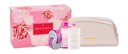 Bvlgari Omnia Pink Sapphire, zestaw: Edt 65 ml + Mleczko do ciała 75 ml + Kosmetyczka (W)