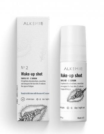 Alkemie Wake-up shot!, serum z potrójną witaminą C, 30ml